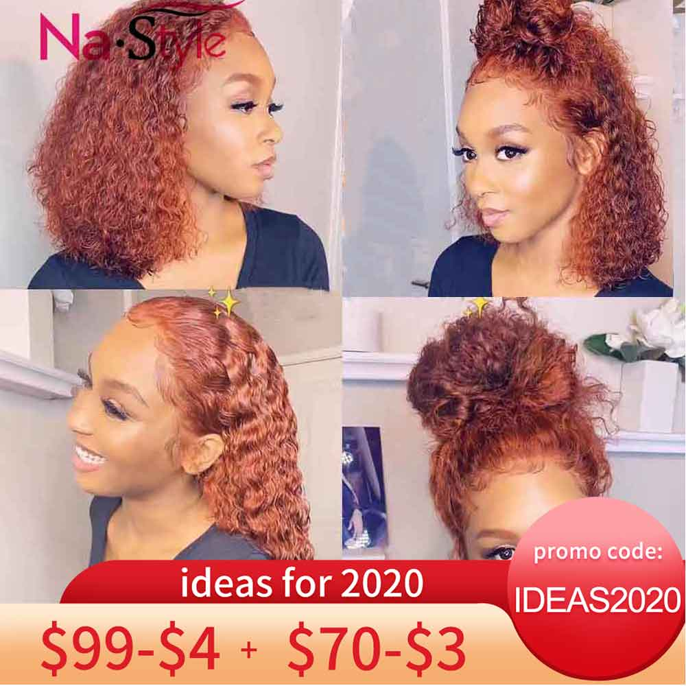 Ginger Wig Orange Lace Front Human Hair Wig Curly Full Lace Wigs Color 360 Lace Frontal Wig Pre Plucked With Baby Hair 150%