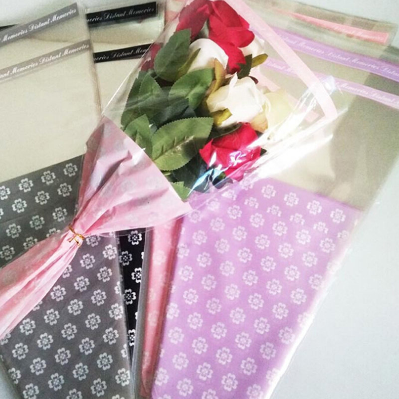 50Pcs/Pack Flowers Wrapping Paper Gift Packaging Paper Flower Cones Holder Bouquet Wedding Decoration Florist Supplies