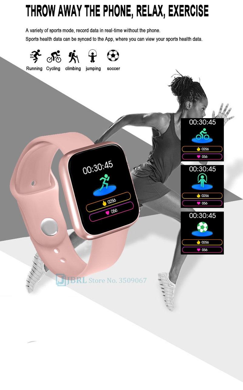 Nouvelle Montre Intelligente Femmes Hommes Smartwatch pour Android IOS Electronique Fitness Tracker
