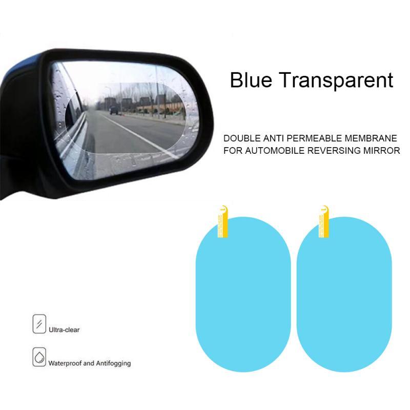 2 PCS Car Rearview Mirror Anti-Fog Membrane Waterproof Rainproof Car Mirror Window Protective Film