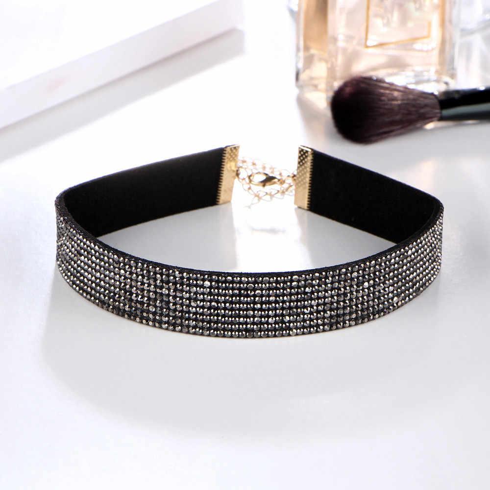 Joondshe 2019, el más nuevo de moda, Gargantilla para mujer, colgante de diamantes de imitación de cristal, joyería de mujer, collar de terciopelo, joyería de moda
