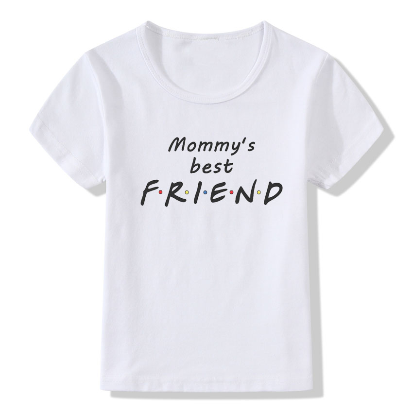 Mommy's <font><b>Best</b></font> <font><b>Friend</b></font> Print T <font><b>shirt</b></font> For <font><b>Kids</b></font> Summer Tops Funny <font><b>Friends</b></font> Letter Print T-<font><b>shirt</b></font> Children Boys Girls Clothes Birth Gift image