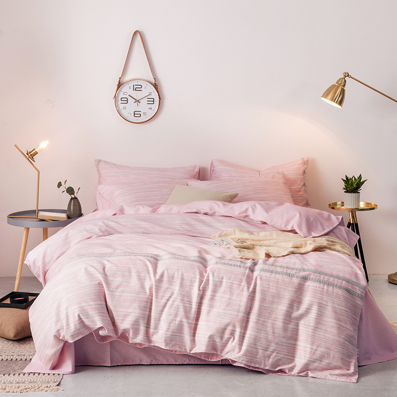 Dohia Northern European-Style Pattern All-cotton Sanding Four-piece Pure Cotton Bedding Article Gift Group Buying Wholesale