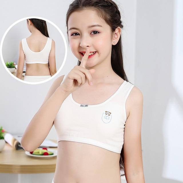 Mädchen Training Bhs 2 Stück Unterwäsche mit Pads Sport Tops 2
