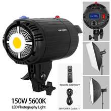 LED Video Light 150W 5600K White Version Video Light Continuous Light Bowens Mount for Studio Video Recording Photography Lamp