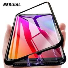 Магнитная Адсорбция металлический чехол для samsung Galaxy A50 A20 A30 A40 A70 A60 A10 M10 M20 M30 J4 J6 A7 A8 A9 телефон Coque samsung