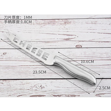 1pc Cheese Knife Stainless Steel Cheese Knife With Fork Tip Serrated Cheese Butter Knife Slicer Cutter Cheese