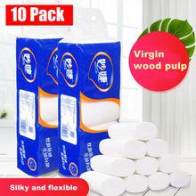 10 Rolls Toilet Paper Home Bath Paper Bath Toilet Roll Paper Toilet Paper 3 Ply Toilet Paper Toilet Roll Tissue Towels Tissue