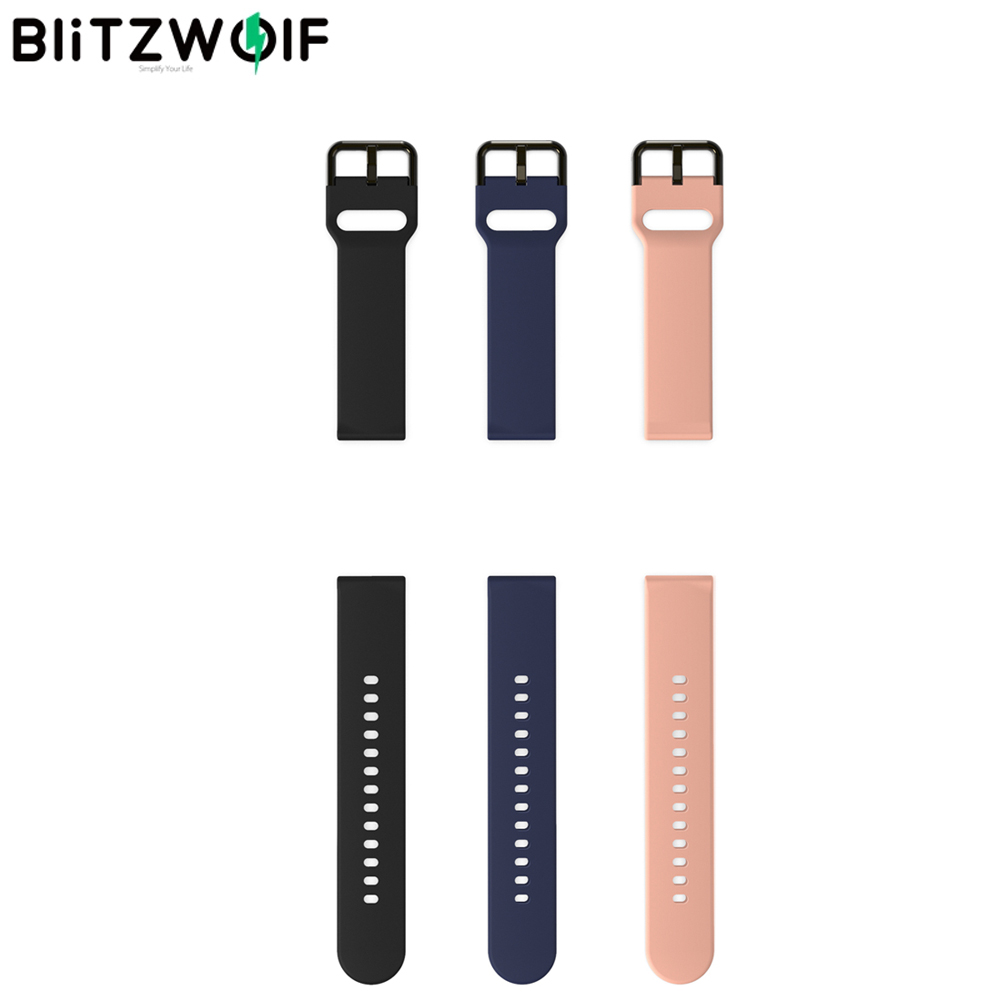 BlitzWolf 20mm Universal Replacement Smart Watch Band Strap Soft Silicone Watch Band Wrist Strap For BW-HL1 Smart Watch Fitness