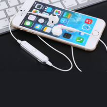 цена на S6 Wireless Bluetooth Earphones Bass Loudly Headset Neckband Sport Stereo In-Ear With Microphone Earphone for IPhone Samsung