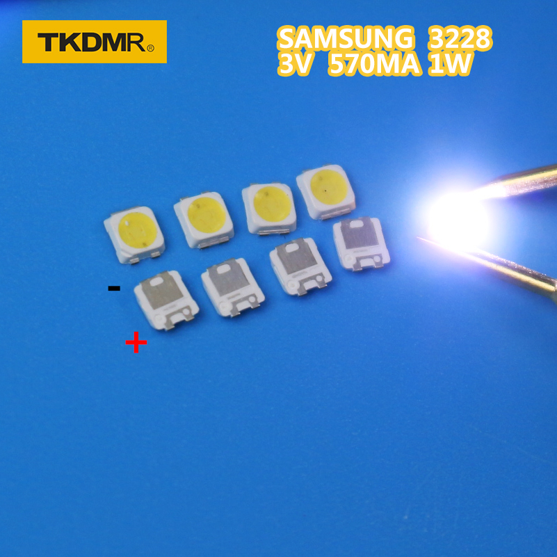 TKDMR 50PCS SAMSUNG LED Backlight TT321A 1.5W 3V 3228 2828 Cool White LCD Backlight For TV TV Application SPBWH1320S1EVC1BIB