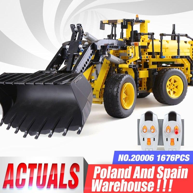 Dhl técnica carro 20006 a 42030 l350f roda carregador blocos de construção tijolos montagem compatível brinquedos presentes natal do carro