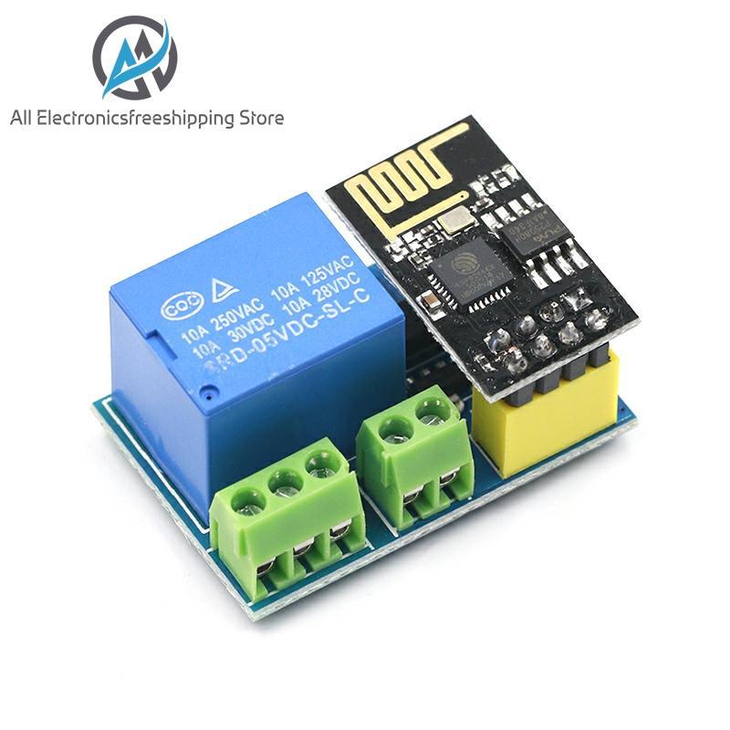 Esp8266 ESP-01/01s 5v módulo de relé wi fi coisas casa inteligente interruptor controle remoto telefone app esp01 ESP-01 módulo wi-fi sem fio