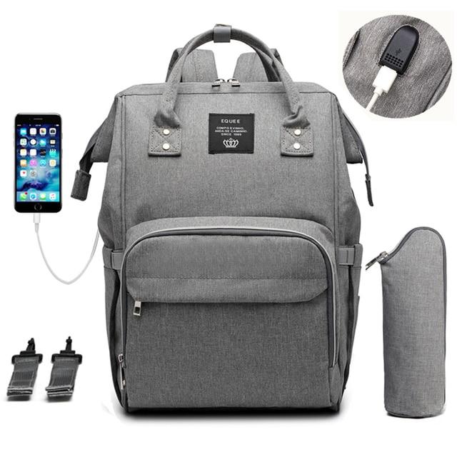 Sac à couches pour bébé, poussette pour maman, USB, grande capacité, à couches étanches pour maman, sac à dos de voyage pour maternité, sacoche à main dallaitement
