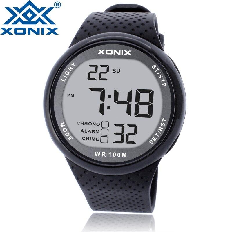 Montre de sport hommes de luxe 100M Relogio Masculino LED numérique plongée natation Reloj Hombre montre de sport Sumergible montre bracelet GJ | AliExpress