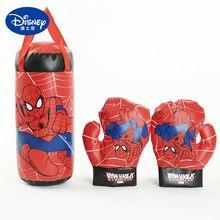Sac de boxe Spiderman pour enfants, Disney Marvel, gants, sac de sable, équipement de boxe, costume, jouets sportifs, cadeaux d'anniversaire pour enfants