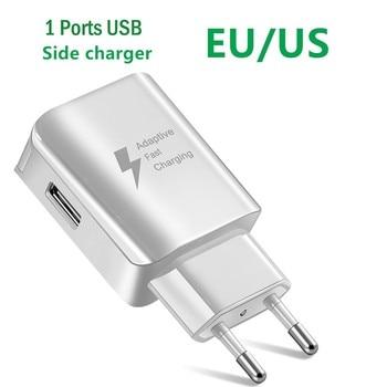 Зарядное устройство с 1 портом USB для iPhone, зарядное устройство для iPhone X MAX 7, Samsung, Xiaomi, европейская вилка