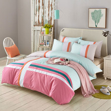 Yimeis Child Bedding Set Geometric Comforter Set Skin-friendly Bed Linen Cotton For Boy BE49001(China)