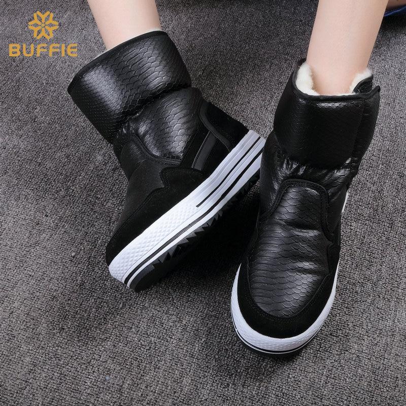Compre 2019 Botas De Mujer Zapatos De Invierno Mujer De Piel Caliente Resistente Al Agua Superior Más Tamaño Moda Antideslizante Suela Envío Gratis