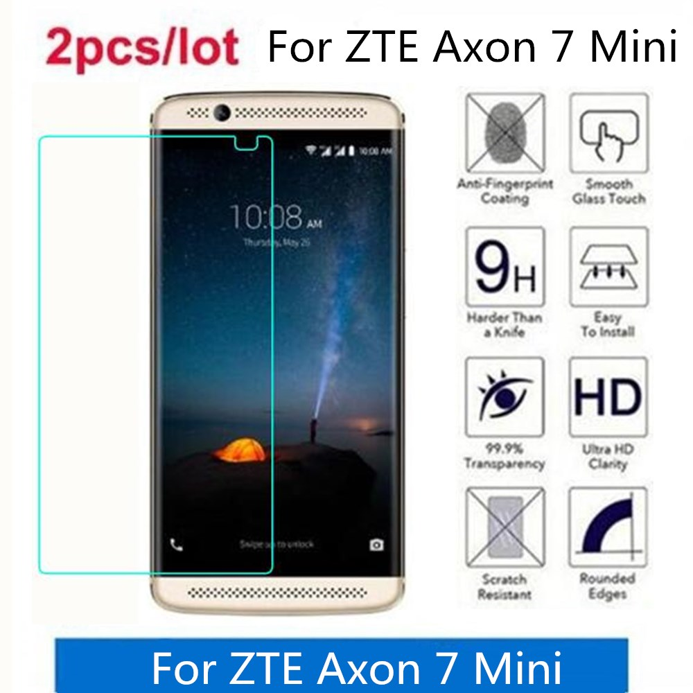 Tempered Glass For ZTE Axon 7 Mini 2.5D Premium Screen Protector Film On For ZTE Axon 7 Protective Film Glass