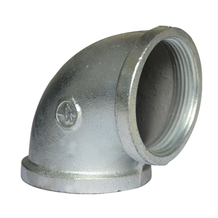 Manufacturers Supply Galvanized Malleable Cast Iron Pipe Fitting Threaded Elbow DN50 2-Inch Sprinkler Cleaning Truck Sanitation