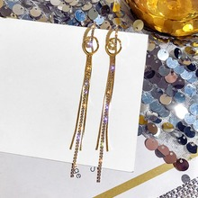 Hot Sale Earings Fashion Jewelry Multi-layer Chain Tassel Geometry Long Earrings Oorbellen Pendientes For Women Brincos