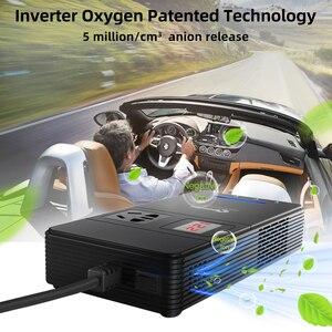Image 4 - XP voiture onduleur cc 12 V à ca 220 V 230V convertisseur de tension avec purificateur dair QC 3.0 USB chargeur inverseur automatique 12 V 220 V