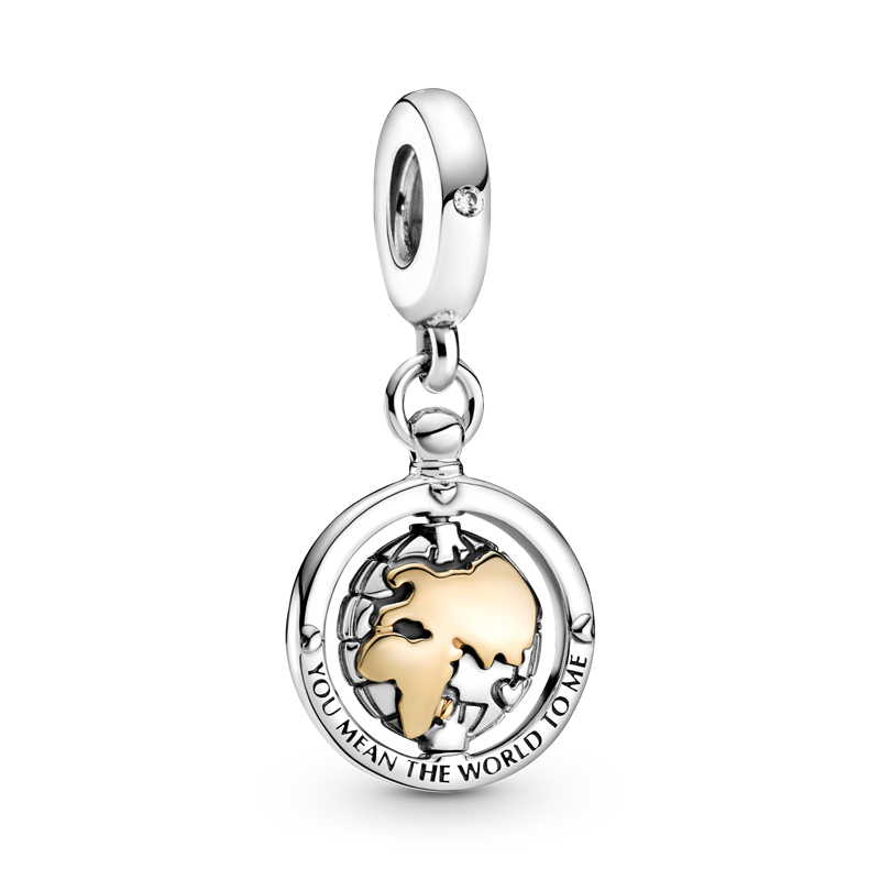 2021 New Product 925 Silver Spinning World Dangle Charm Dangle Beads Fit Original Silver 925 Jewelry Making