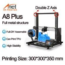 Anet a8 plus kit de impressora 3d com exturder de alta precisão e hotend reprap com pla 10m filamentos 3d drucker
