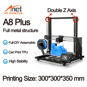 Anet A8 Plus 3D Printer Kit With High Precision Exturder And Hotend Reprap Prusa i3 with PLA 10m Filaments 3D Drucker