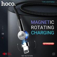 Hoco magnetico usb del cavo per lilluminazione girevole magnete caricatore di ricarica veloce destro ad angolo di filo per il iPhone 11 Pro Max X xs Xr