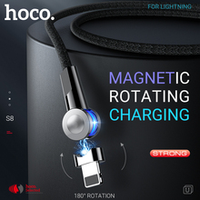 Hoco magnetyczny usb kable do lightning obrotowy magnetyczna ładowarka szybkie ładowanie prostopadły drutu dla iPhone 11 Pro Max X Xs Xr