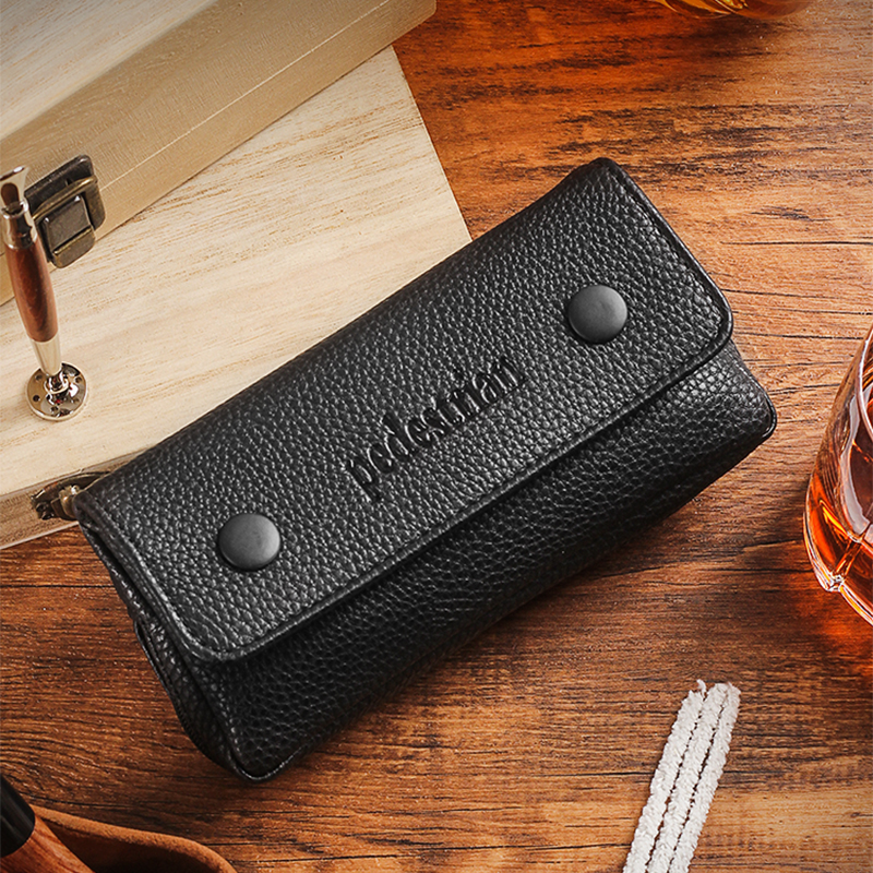 Free Shipping 1pcs Black Tobacco Pouch For Smoking Pipe Weed Humidor Tobacco Bag Holder Pocket, Tool Travel Portable