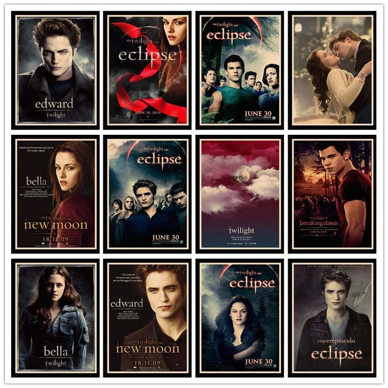 Perfect JL Twilight retro posters kraft wall paper High Quality Painting For Home Decor wall stickers HBB55