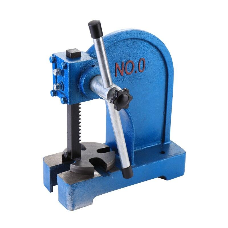 1T углеродистая сталь ручной Настольный ручной перфорационный пресс металлический пресс для ножей
