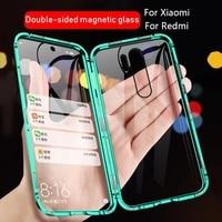 360 magnetische Adsorption Metall Fall Für Xiaomi Redmi Hinweis 10 9 8 7 Pro 9A 9C 8A Für Xiaomi 10 10T 9T Pro Doppelseitige Glas Abdeckung