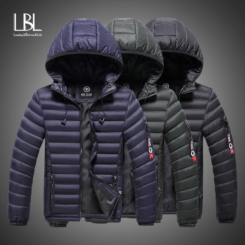 Winter Jacket Men 2019 Fashion Male Parka Hooded Jacket Mens Solid Thick Cotton Padded Jackets And Coats Man Winter Warm Parkas