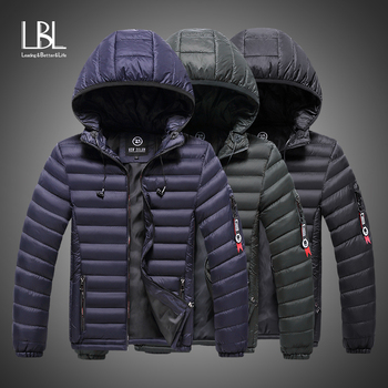 Winter Jacket Men 2019 Fashion Male Parka Hooded Jacket Mens Solid Thick Cotton Padded Jackets and Coats Man Winter Warm Parkas new winter men s cotton linen padded thickened jacket china style male jeans coat mens fashion casual warm denim parkas jacket