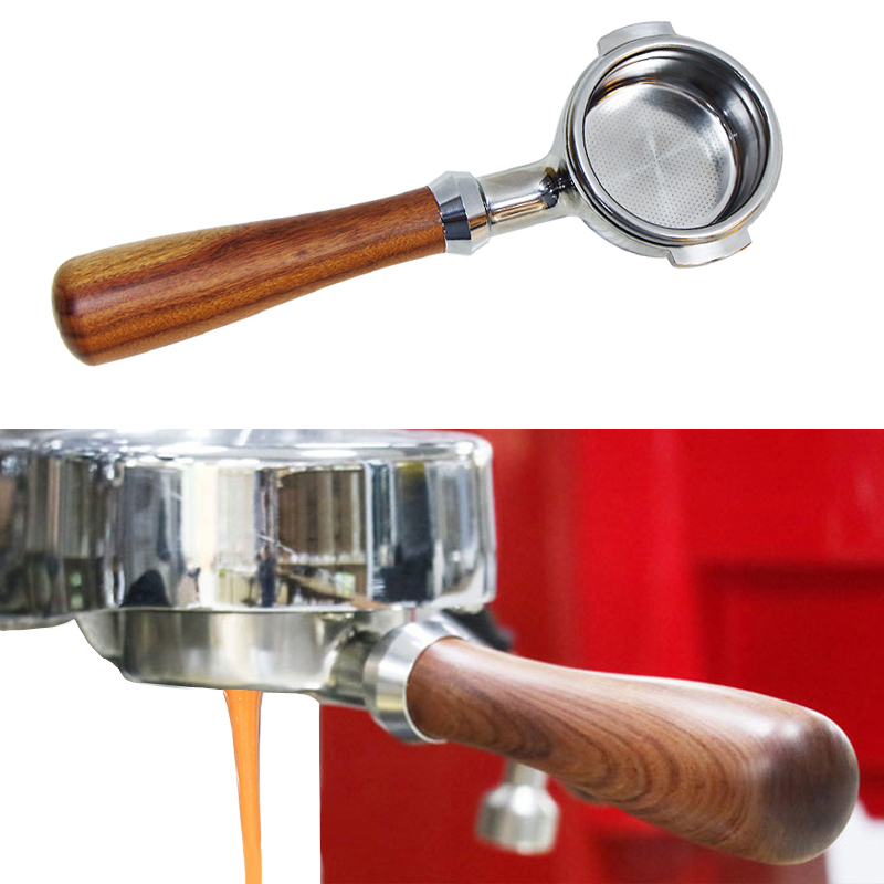 Espresso Bottomelss Naked Portafilter 51MM - 58MM Apply To E61 Punching Head 304 Stainless Steel Coffee Machine Handle