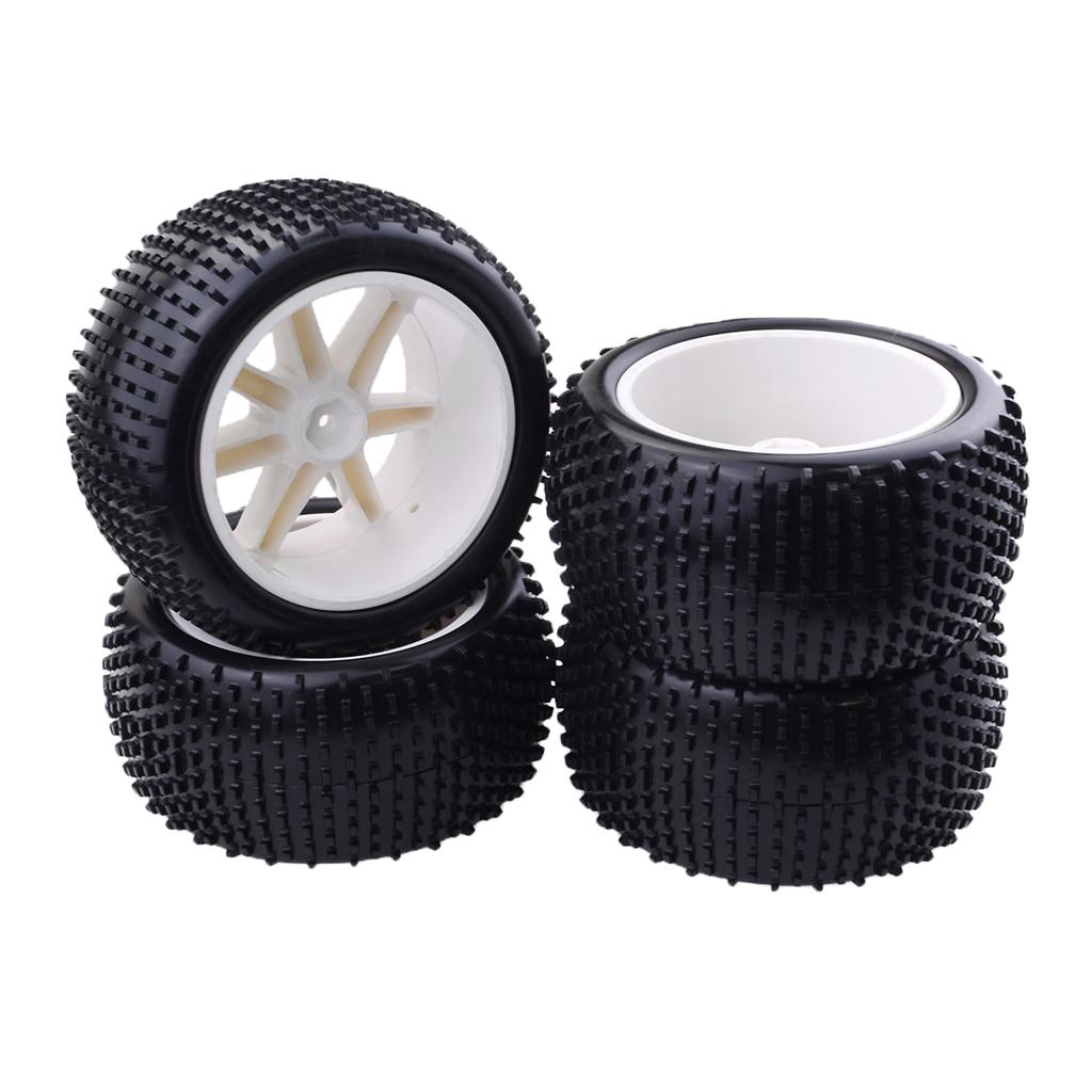 Image 4 - 4 本 1/10 バギータイヤタイヤとホイールリム hsp を hongnor zd レーシング lrp vrx redcat ftx クローラ車パーツ & アクセサリー   -