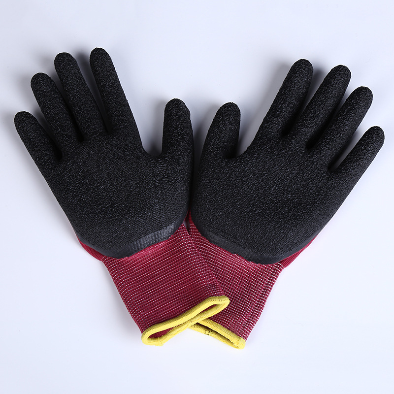 Labor Insurance Comfortable Non-slip Wear-resistant Nylon Cycling Gloves