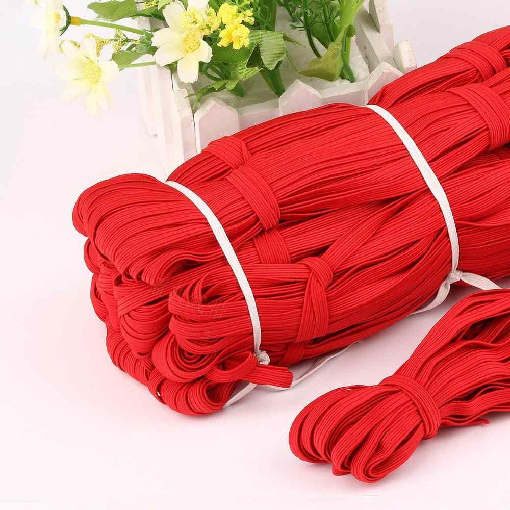 6mm kolorowe wysokoelastyczne opaski elastyczne liny gumką linia elastan wstążka koronka wykończeniowa pas biodrowy akcesoria krawieckie 5M