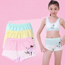 4Pcs אופנה בגיל ההתבגרות תחתוני נסיכת גדול בנות מכנסיים מתאגרפים כותנה Teen תחתוני דוט הדפסת תחתוני 10 16 Yrs ילדים בגדים