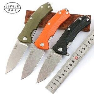 Складной зажим JUFULE Lionsteel KUR, лезвие Sleipner G10, шариковый подшипник с ручкой, тактический карманный нож для кемпинга, выживания, охоты, инструмен...
