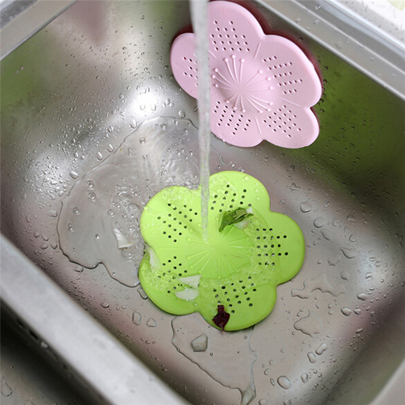 2pcs Kitchen Sink Strainer Drain Hole Filter Hair Catcher Bathroom Stopper Strainers Shower Cover Basin Sink Filters Floor Drain