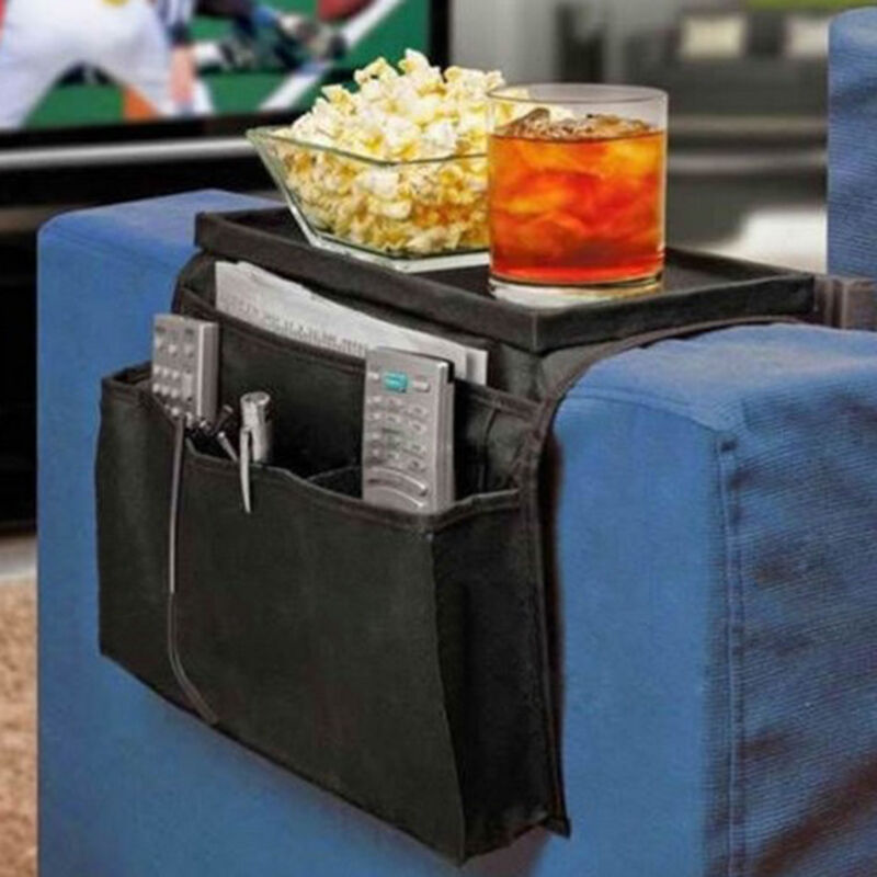 Case Bags Tray Sofa Pockets Magazine Rack 6 Pocket Fashion Container Organizer Pouch Bags Couch Arm Rest Table Organizer