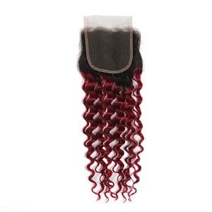 Image 5 - Perruque Lace Closure Deep Wave Non Remy brésilienne KEMY Hair