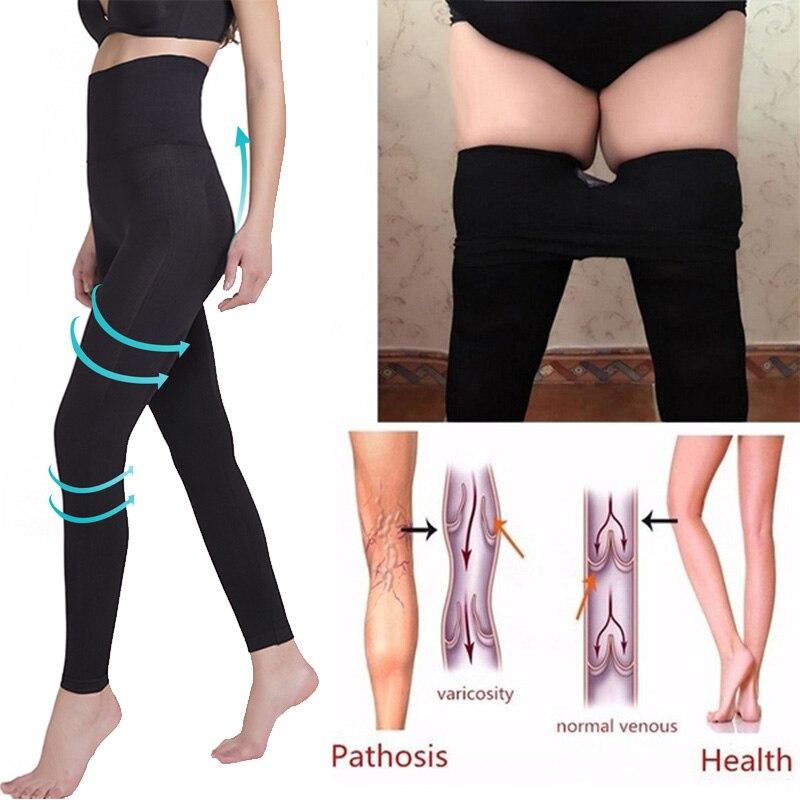 Women High Waist Leggings Sculpting Sleep Leg Legging Tummy Control Skinny Panties Slimming  Leggings Thigh Slimmer Pants
