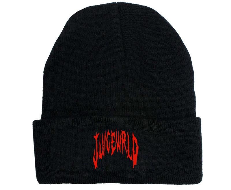 Juice Wrld Hat Cosplay Props Unisex Winter Dustin Black Knit Cap Hats Warm Hat