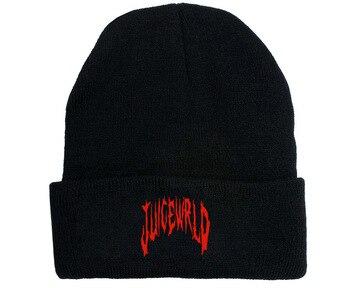Juice Wrld Hat Cosplay Props Unisex Winter Dustin Black Knit Cap Hats Warm Hat недорого